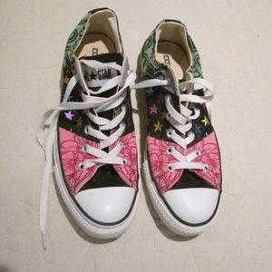Converse 1985 tour metallic stars Floral Sneakers
